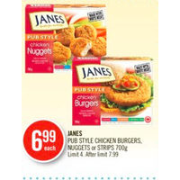Janes Pub Style Chicken Burgers, Nuggets Or Strips
