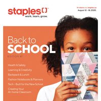 Staples - Back To School - Edition #1 Flyer