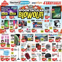 Factory Direct - Spooktacular Blowout! Flyer