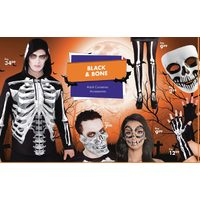 Black and Bone Adult Costumes and Accessories