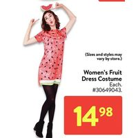 Women's Fruit Dress Costume
