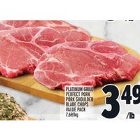 Platinum Grill Perfect Pork Pork Shoulder Blade Chops