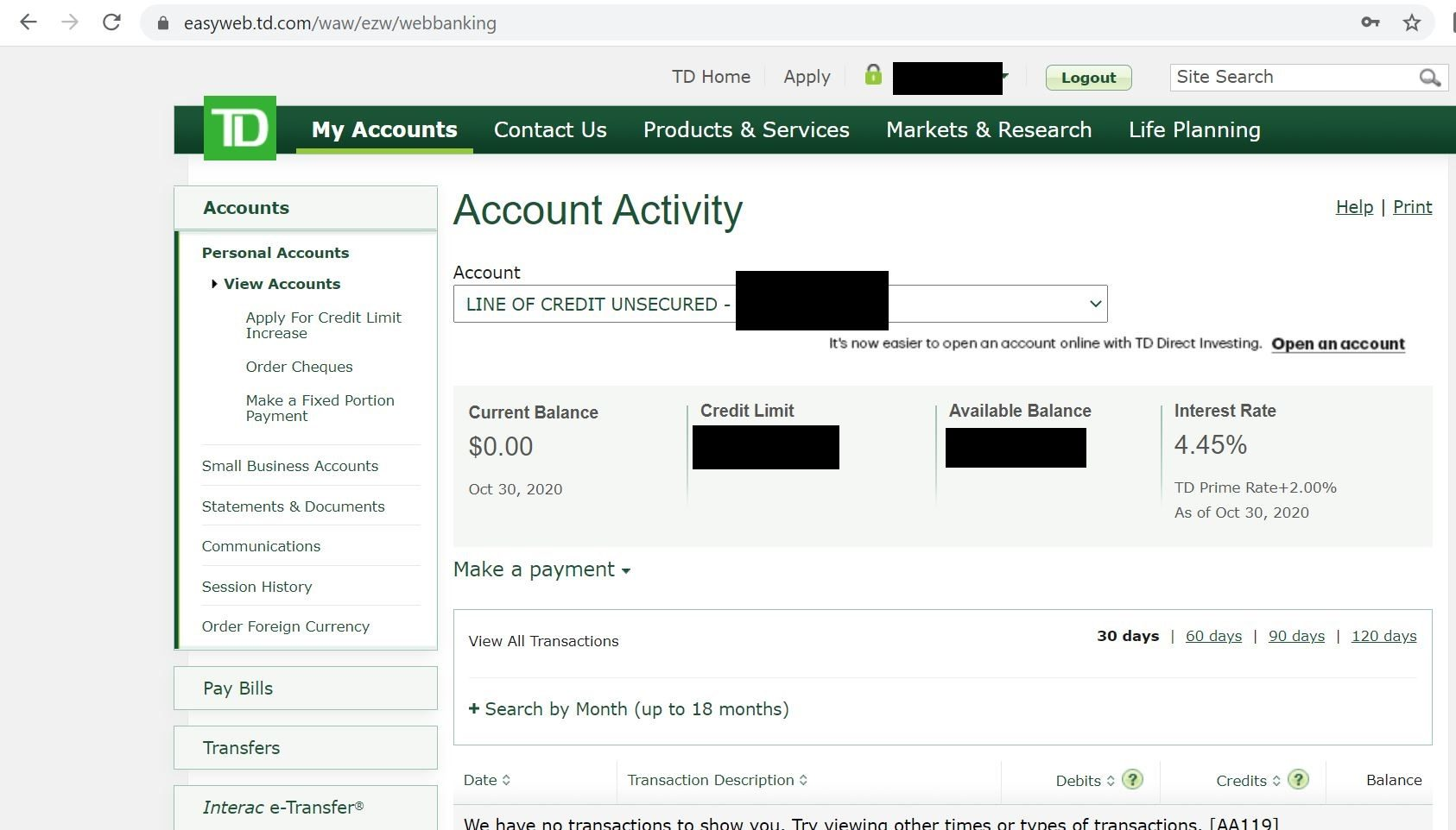 TD Personal Line of Credit - Interest Rate - Page 10 - RedFlagDeals