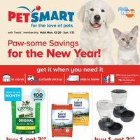 PetSmart - For The Love of Pets - Paw-some Savings For The New Year! Flyer