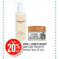 Zero Or Honest Beauty Skin Care Products