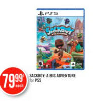 Sackboy: A Big Adventure For PS5