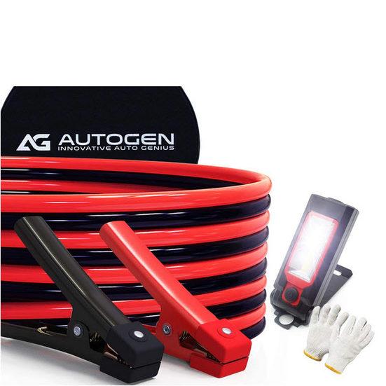3. Best Heavy Duty: Autogen Jumper Cables 1 Gauge 30 ft. 900A