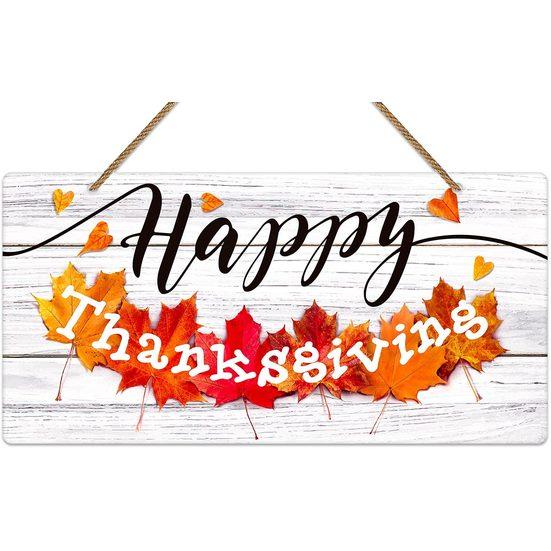 1. Editor's Pick: WaaHome Happy Thanksgiving Door Sign