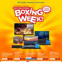 Canada Computers - Weekly Deals - Here Comes October Boxing Week! Flyer