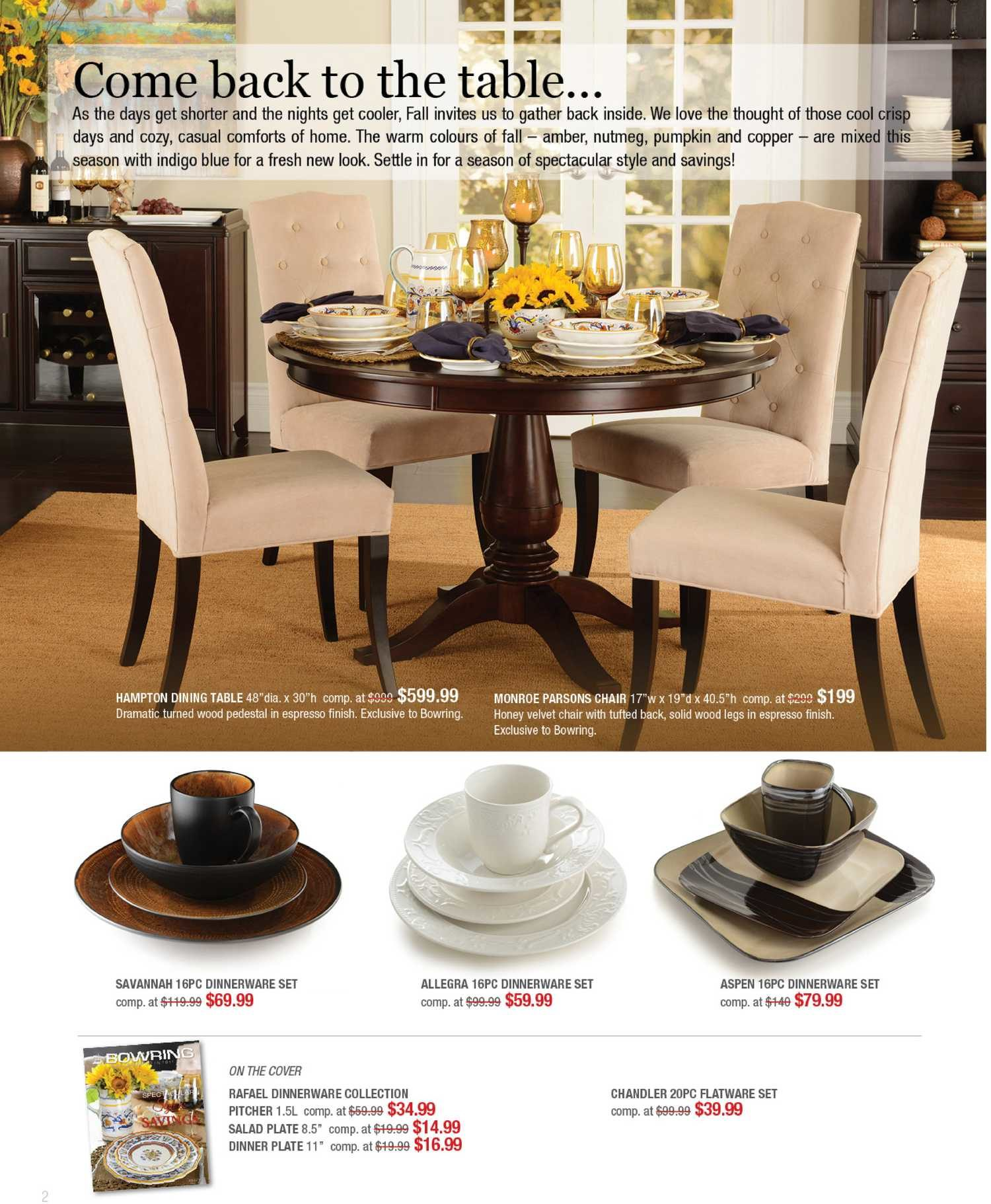 Bowring Weekly Flyer - Fall Catelogue 2013 - Style \u0026 Savings - Oct 7 \u2013 31 - RedFlagDeals.com & Bowring Weekly Flyer - Fall Catelogue 2013 - Style \u0026 Savings - Oct ...