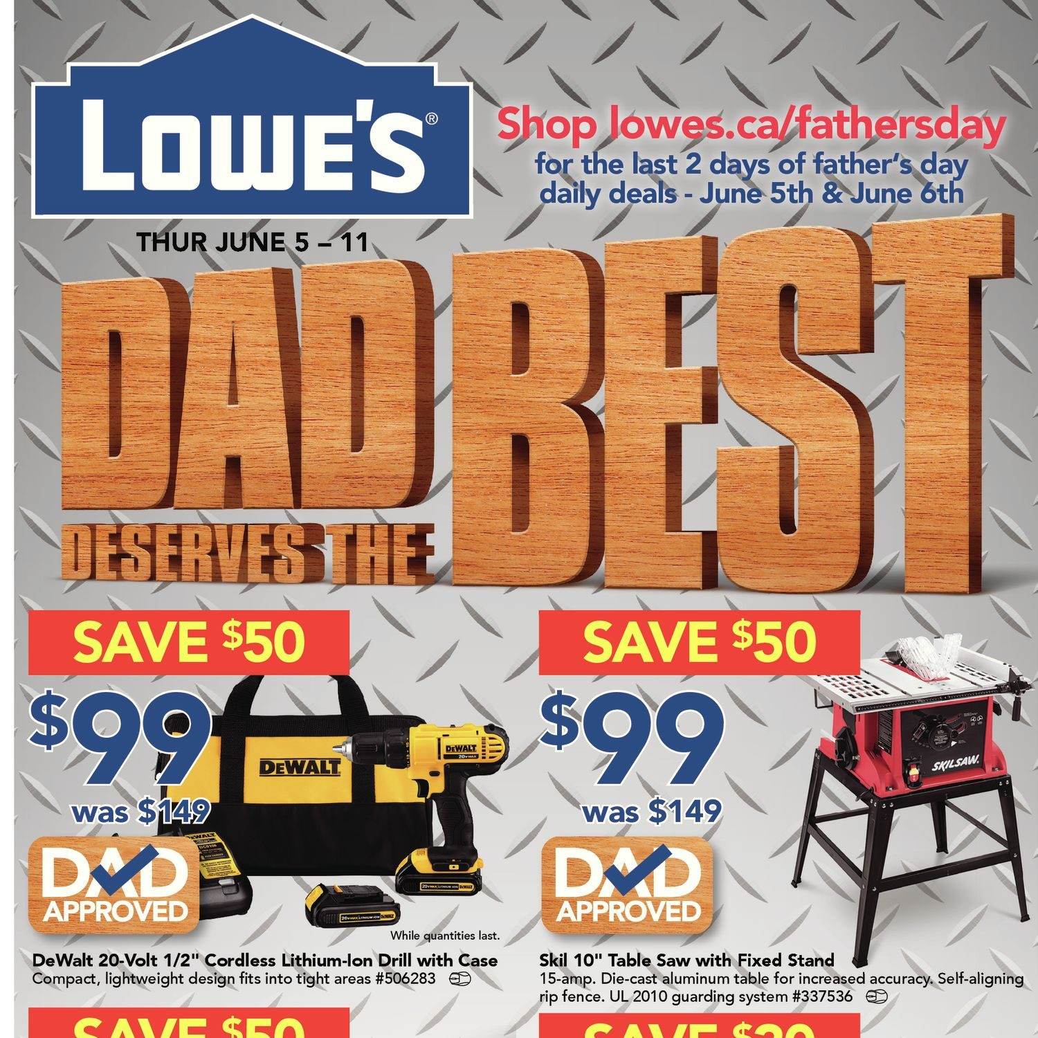Lowe's Weekly Flyer - Weekly Flyer - Dad Desserves The Best