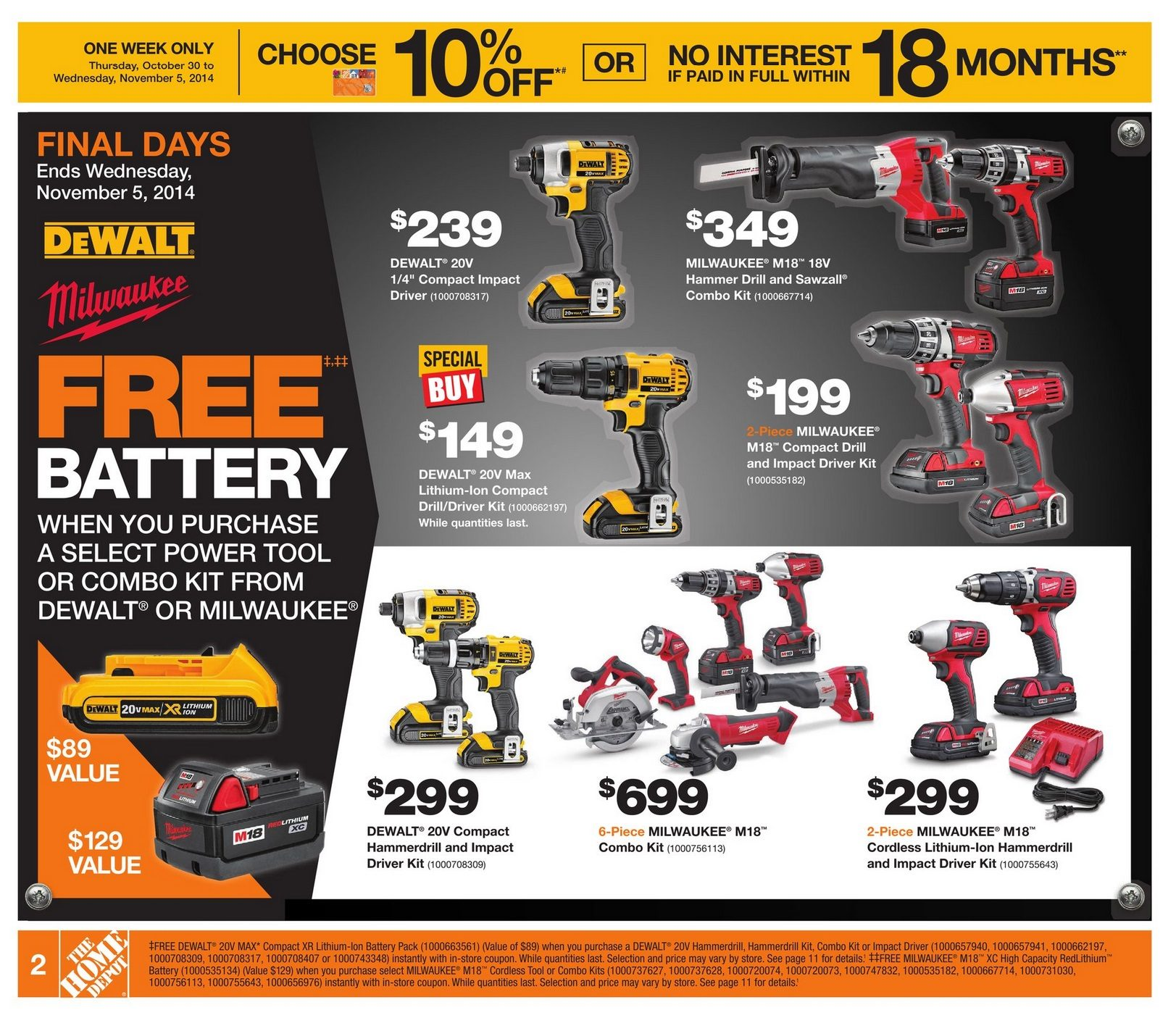 Home Depot Weekly Flyer Weekly Oct 30 – Nov 5 RedFlagDeals