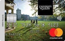 University of Guelph Alumni MBNA Rewards Mastercard® credit card
