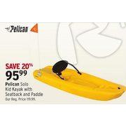 Pelican Solo Kid Kayak W Seatback Paddle