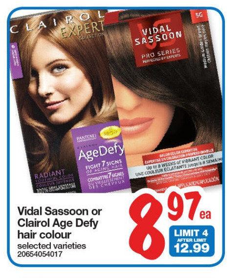 vidal sassoon hair dye coupon canada