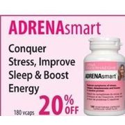 AdrenaSmart Conquer, Stress, Improve Sleep & Boost Energy - 20% off