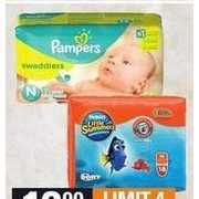Huggies Little Swimmers Size S-L, PC Mega Training Pants or Huggies or Pampers Jumbo Diapers - $10.99