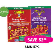 Annie's Organic Fruit Snacks  - $2.99 ($2.00  off)