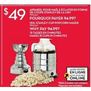 Giant Tiger: NHL Stanley Cup Popcorn Maker - RedFlagDeals com