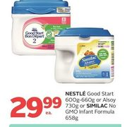 Nestle Good Start Or Alsoy Or Similac No GMO Infant Formula - $29.99
