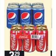 Coca-Cola, Canada Dry or Pepsi Soft Drinks - $3.29