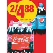 Coca-Cola, Canada Dry or Pepsi Soft Drinks - 2/$4.88