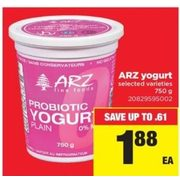 ARZ Yogurt - $1.88 (Up to $0.61 off)