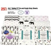 "All Babies ""R"" Us and Koala Baby Sheets - $7.47 - $22.47 (25% off)"