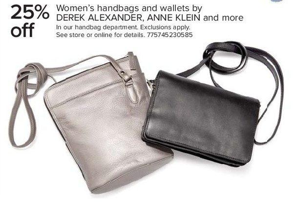 The Bay Women S Handbags And Wallts By Derek Alexander Anne Klein More 25 Off