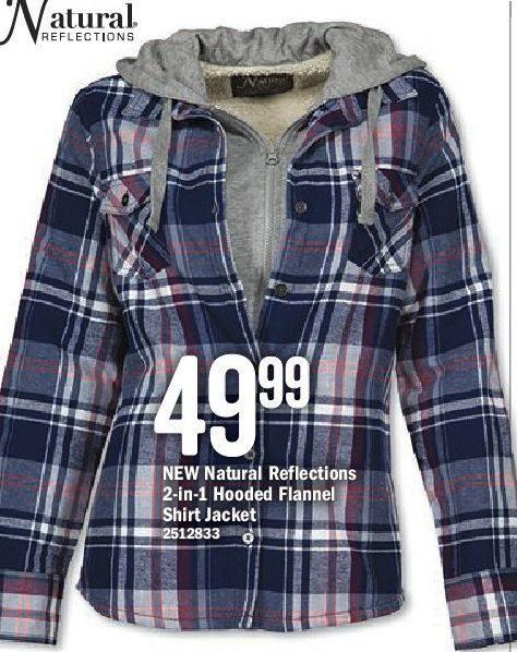 d6629aa006d Bass Pro Shops  Natural Reflections 2-in-1 Hooded Flannel Shirt Jacket -  RedFlagDeals.com