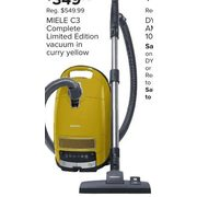 Miele C3 Complete Limited Edition Vacuum In Curry Yellow - $349.99 ($200.00 off)