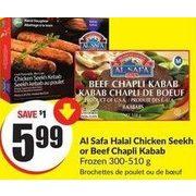 Fresh Co: Al Safa Halal Chicken Seekh Or Beef Chapli Kabab