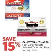 Canesten Or Tinactin Foot Care Products - 15% off