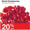 Dried Cranberiies - 20% off