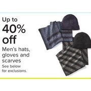 Men's Hats, Gloves And Scarves - Up to 40% off