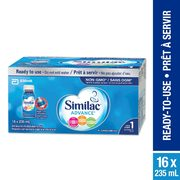 Similac Advance Step 1 Or 2 Ready To Feed Bottles - $39.98/pack ($7.00 off)