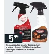 Weiman Cook Top, Granite, Stainless Steel Or Leather  Cleaner Or Stainless Steel Wipes - $5.99