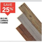 12-MM Laminate Flooring  - 25% off