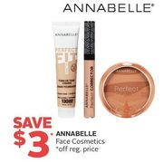 Annabelle Face Cosmetics - $3.00 off