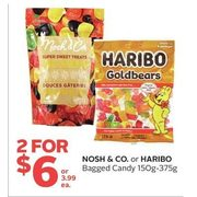 Nosh & Co. Or Haribo Bagged Candy - 2/$6.00