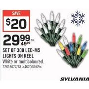 Sylvania Set of 300 LED-M5 Lights On Reel  - $29.99 ($20.00 off)