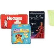 Huggies, Pull· Ups or Goodnites Jumbo Diapers or Training Pants - $11.99/pkg
