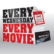Cineplex SCENE Wednesdays: Redeem 500 SCENE Points for a Free Movie (Quebec Only)