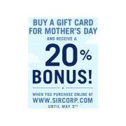 Buy a SIR Corp Gift Card (Jack Astor's, Alice Fazooli's, etc.)